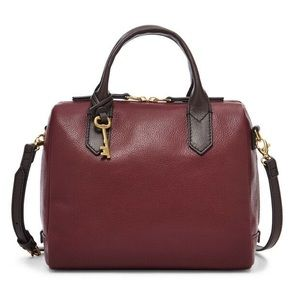 Fossil Fiona satchel in Cabernet